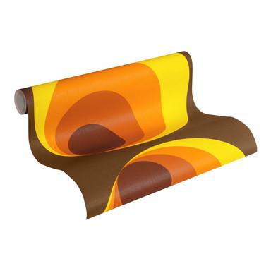 A.S. Création Vliestapete Retro Vision Retrotapete 70er Jahre Tapete, orange, gelb, braun