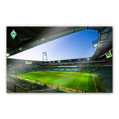 Acrylglasbild Werder Bremen Weserstadtion Innen