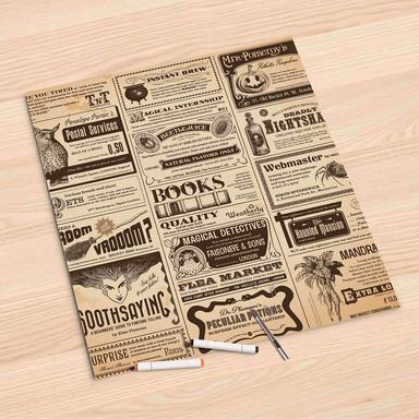 Folienbogen (60x60cm) - Vintage Newspaper