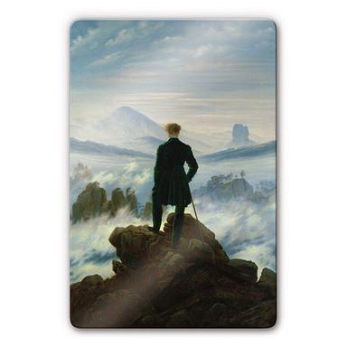 Glasbild Friedrich - Der Wanderer über dem Nebelmeer