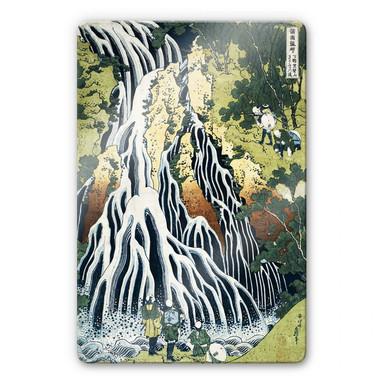 Glasbild Hokusai - Der Kirifuri Wasserfall