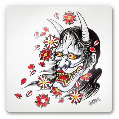 Glasbild Miami Ink Hannya Maske
