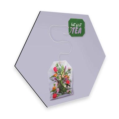 Hexagon - Alu-Dibond Loose - Flower Tea
