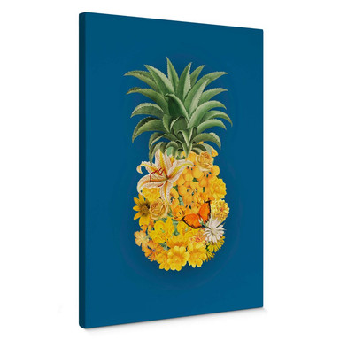Leinwandbild Feldmann - Pineapple Blue Floral