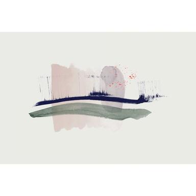 Livingwalls Fototapete ARTist Hope mit Aquarell Zeichnung blau, creme, grün, violett - Bild 1