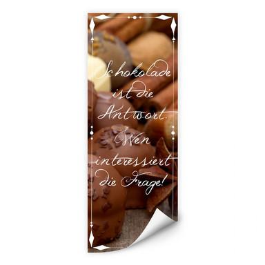 Wallprint Schokolade ist die Antwort… - Panorama