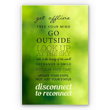 Wandbild Get offline