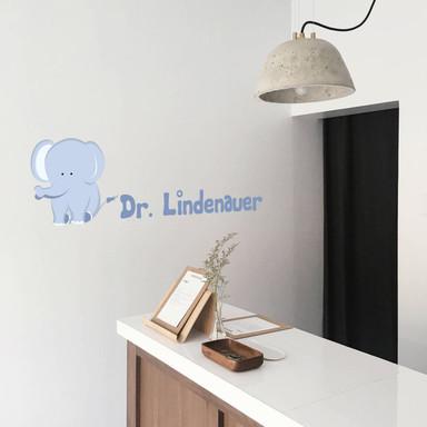 Wandsticker Elefantenbaby