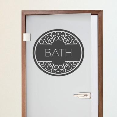 Wandtattoo Bath