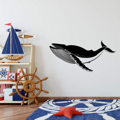 Wandtattoo Blauwal