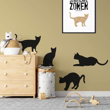 Wandtattoo Katze