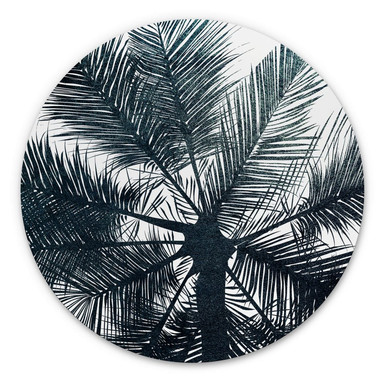 Alu-Dibond Kubistika - California Dreaming - Rund