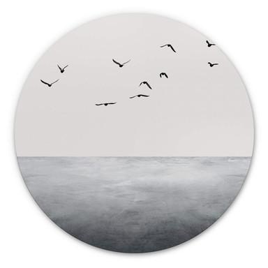 Alu-Dibond Kubistika - Das offene Meer - Rund