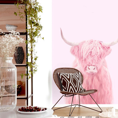 Fototapete Fuentes - Highland Cow - 192x260cm - Bild 1