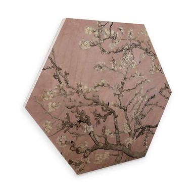 Hexagon - Holz van Gogh - Mandelblüte Rosé