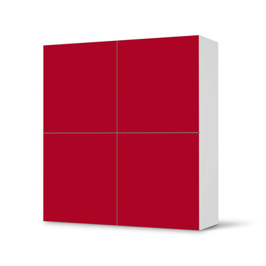 Klebefolie IKEA Besta Schrank 4 Türen - Rot Dark- Bild 1