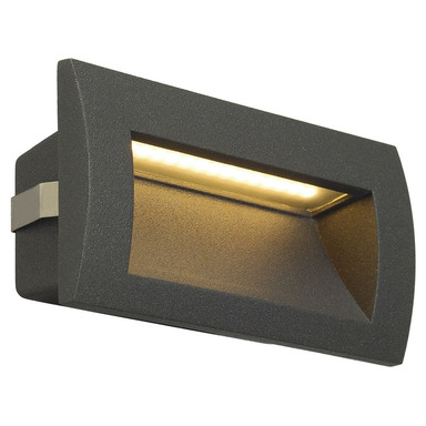 LED Wandeinbauleuchte Downunder Out M, IP55. 3000K, anthrazit