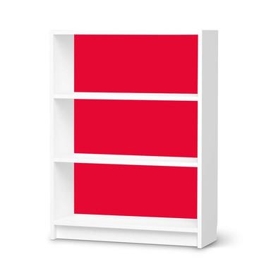 Möbelfolie IKEA Billy Regal 3 Fächer - Rot Light