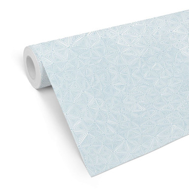 Mustertapete - abstrakte Dreiecke - blau