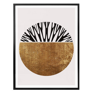 Poster Kubistika - Baum des Lebens - Gold