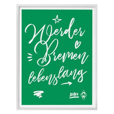 Poster Werder Bremen - Lebenslang