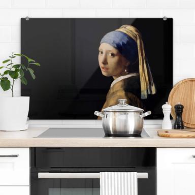 Spritzschutz Vermeer - Das Mädchen mit dem Perlenohrring