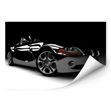 Wallprint Black Car