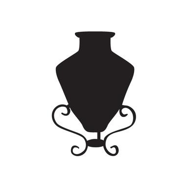 Wandtattoo Vase 10