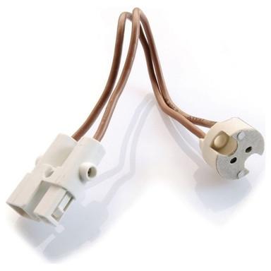 Wieland Fassung Nv Mit 15cm Kabel und Stecker in Weiss