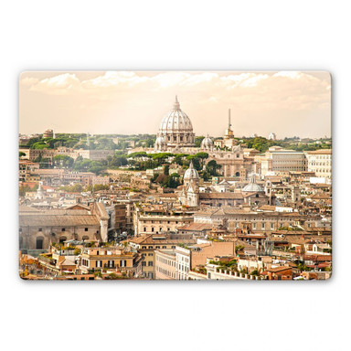 Glasbild Rom Panorama