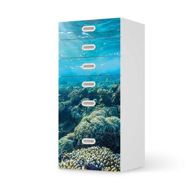 Klebefolie IKEA Stuva / Fritids Kommode - 6 Schubladen - Underwater World- Bild 1
