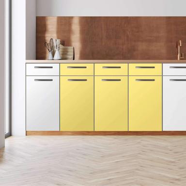 Küchenfolie - Unterschrank 120cm Breite - Gelb Light