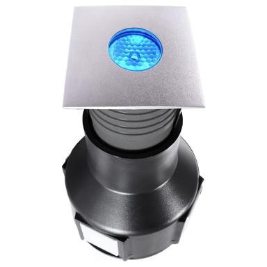 LED Bodeneinbauleuchte Easy Square II RGB in Silber und Transparent x3.5W IP67