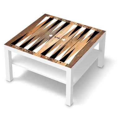 Möbelfolie IKEA Lack Tisch 78x78cm - Spieltisch Backgammon Schwarz-weiss