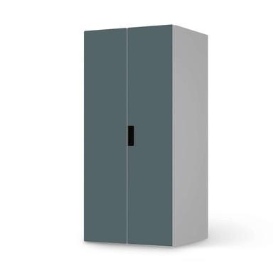Möbelfolie IKEA Stuva / Malad Schrank - 2 grosse Türen - Blaugrau Light
