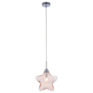 Pendelleuchte Star mit sternförmigem Schirm 200mm apricot