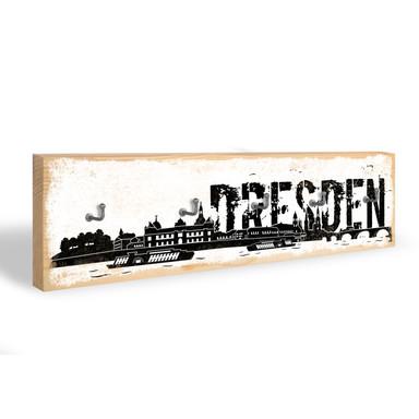 Schlüsselbrett Dresdener Skyline