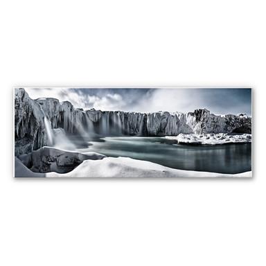 Wandbild Schherbina - Islands Wasserfälle - Panorama