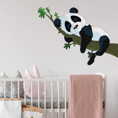 Wandsticker Schlafender Panda
