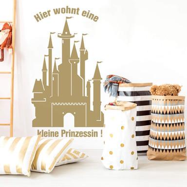 Wandtattoo Prinzessinnen Schloss