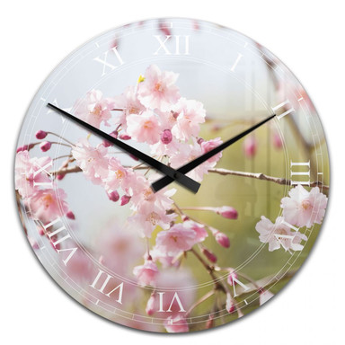 Wanduhr Cherry Blossoms