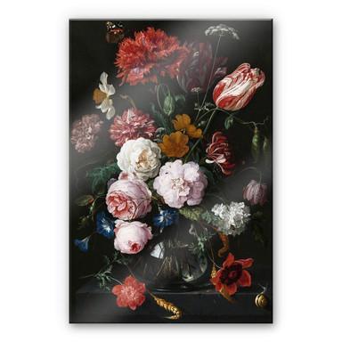 Acrylglasbild Heem - Stillleben mit Blumen in einer Glasvase