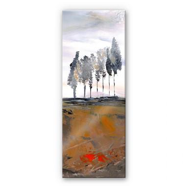 Acrylglasbild Niksic - Baumallee - Panorama