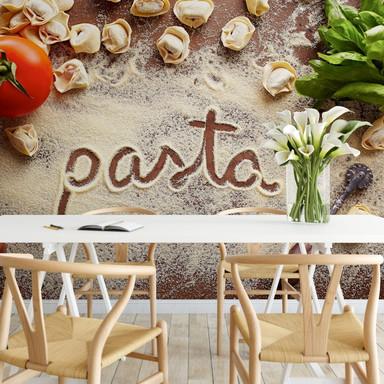 Fototapete Pasta - Tortellini - 384x260cm - Bild 1