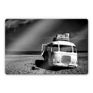 Glasbild Depaepe - Beached Bus