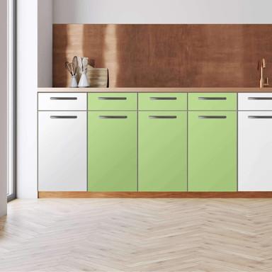 Küchenfolie - Unterschrank 120cm Breite - Hellgrün Light