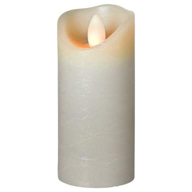 LED Kerze Shine Wachs gefrostet in Grau 125x50x50mm
