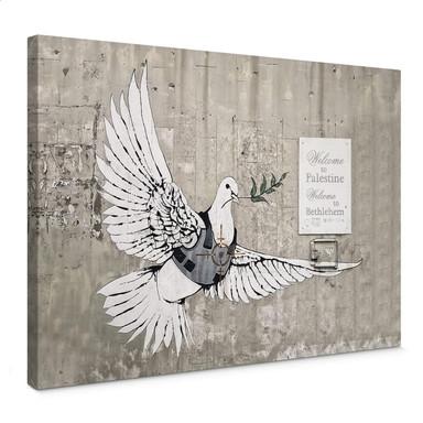 Leinwandbild Banksy - Die Friedenstaube