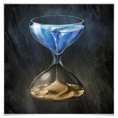 Poster aerroscape - Die Zeit läuft ab - Quadratisch
