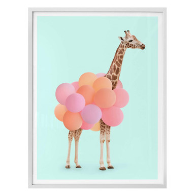 Poster Fuentes - Giraffe und Ballons